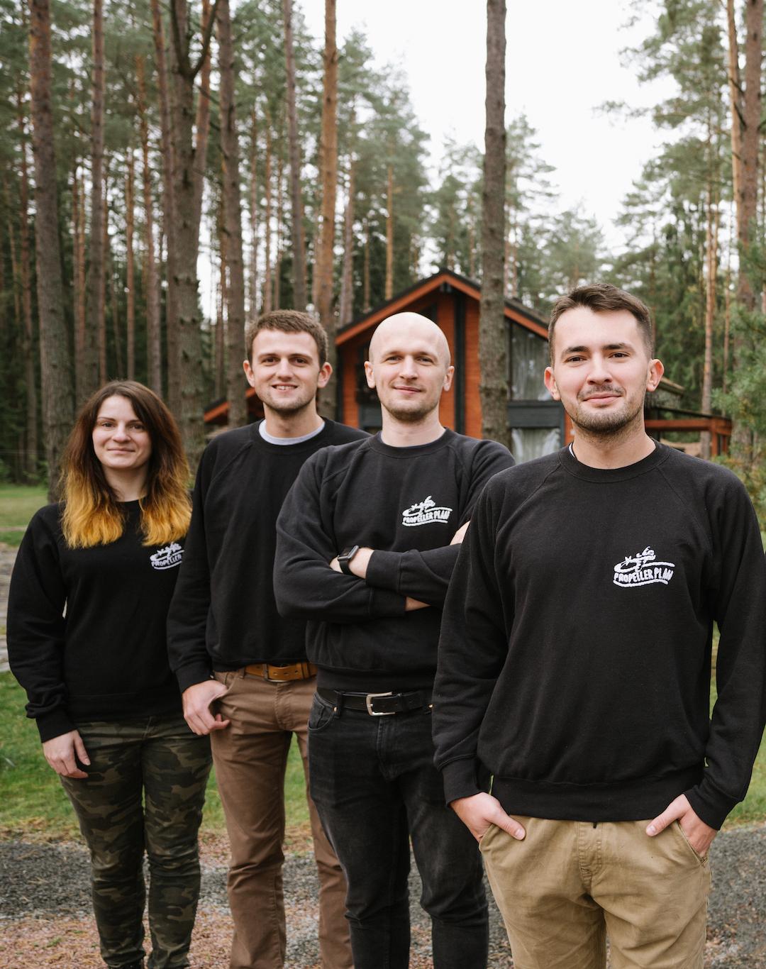 PropellerPlan Crew Yarik Igor Vlad Lena